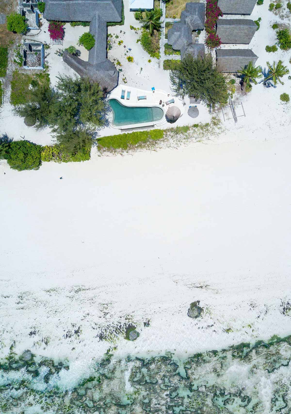 Aerial View of Driftwood Beach Lodge